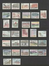 30 Denmark stamps - 1970s selection of Provincial Issues - line drawings - MLH