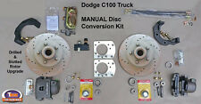 "1954-1960 DODGE C100 FRONT MANUAL DISC BRAKE KIT - 11"" Drilled & Slotted Rotors"