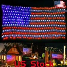 Usa Independence Day Flag Net Light Outdoor Lights Waterproof Hanging Ornaments
