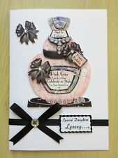 Luxury Hand-Made 'Pink Gin' Birthday Card-Can Be Personalised-Any Relative/Age