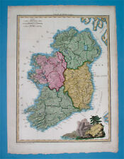 1812 RARE ORIGINAL MAP IRELAND BELFAST DUBLIN ULSTER MUNSTER CORK