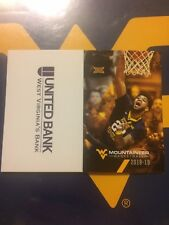 West Virginia Mountaineers--2018-19 Basketball Pocket Schedule--