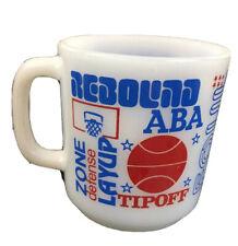 Vintage American Basketball Association ABA Glassbake Milk Glass Mug