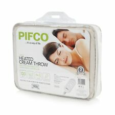 PIFCO PE151 Heated Throw and Over Blanket Detachable Controller 120 W Cream