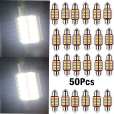 50x 12SMD 31mm 4014 LED Lights Dome Festoon Internal Plate Lamp White