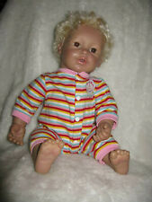 """2007 Baby So Real 17"""" Doll Irwin Toys Blond Hair Brown Blue Eyes Realistic"""
