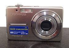 Olympus FE-230 7.1MP Digital Camera Silver, Batery, Charger, 1 GB Memory Card