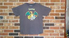 Men's Pokemon Gray XL X-Large T-Shirt Charizard Pikachu Squirtel Meow 2015