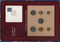Coin Sets of All Nations Hong Kong 1979-1982 UNC $1 1980 $2 1981 $5 1981