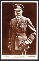 RPPC Royal HM King George V KG5 KGV Chief of the Royal Air Force RAF Postcard PC