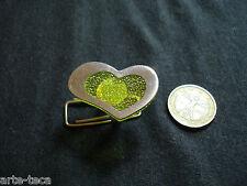 anello alluminio resina cuore greenery nuova collezione regolabile bigiotteria
