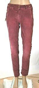Jeans Donna Pantaloni Velluto MET Italy C745 Affusolato Viola Tg 25 veste grande