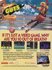 Original NICKELODEON GUTS Super Nintendo SNES video game print ad page