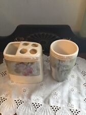 New listing Floral Print Toothbrush Holder And Water Cup