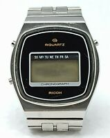 Orologio Ricoh riquartz chronograpth watch stainless steel clock spare parts