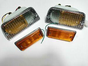 FITS Nissan Datsun 620 UTE Pickup 1972-78 Front SIgnal Indicator Lights Set 4pcs