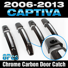 Chrome Carbon Door Catch Handle Garnish Molding for CHEVORET 2006-2016 Captiva