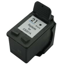 HP 21 Black C9351AN Reman Ink Cart 300% More Output For HP 21XL C9351A