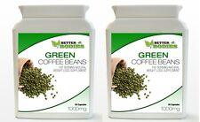 2 x 30 verde estratto del chicco di caffè 1000MG TAPPI Pillola Dieta Supplemento per Perdita di peso