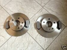 VAUXHALL ZAFIRA  CDTi  05--TWO SOLID 264 MM REAR BRAKE DISCS AND FOUR PADS PADS
