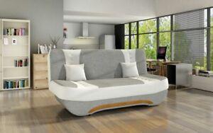 Modern Sofa Bed with Storage 3 Seater Black Grey New with Spring EWA II
