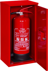 Feuerlöscher Box BX-CABINET6 Metallbox Feuerlöscherbox Schutzkasten Schrank rot