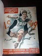 Miroir du sprint 43 numéros du n°186 au 226 + 260 et 261 reliure de 1950