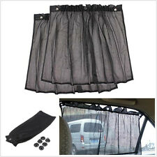 2pc Car Sun Shade Side Nylon Mesh Window Curtain Foldable Sunshade UV Protection