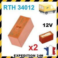 RTH34012WG RTH34012 RELAIS DE PUISSANCE 12VDC 16A 6 BROCHES - 2 PIECES