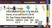 Billete-Preston North End v Málaga 30.07.05 pre-season amigable