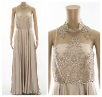 ex Coast High Neck Lace Sequin Embroidery Maxi Occasion Dress