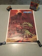 Vintage 1984 Masters of the Universe poster Kellogggs Cereal Premium Rare NM