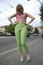 Neongrüne Caprihose Damen Hose 60er TRUE VINTAGE 60s capri pant neon green