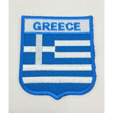 Greece Flag Embroidered Sew/Iron On Patch Patches