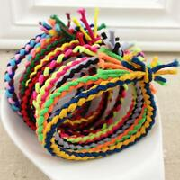 10pcs Braided Colorful Hair Rope Elastic Rubber Ponytail Holder Hairband