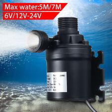 DC 6/12/24V Wasser Pumpe 5M 800L/H 7M 1100L/H Solar Warmwasser Umwälzpumpe  !