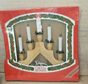 konst smide wooden vintage candle light bridge new large