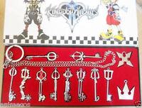 12pcs/Set Kingdom Hearts II KEY BLADE Necklace Pendant+Keyblade+Keychain in box