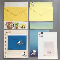 Vintage SNOOPY Stationery Envelope Card HALLMARK Writing Paper SCHULZ PEANUTS