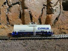 N Scale Atlas 39' kaolin tank car Acfx. Cyprus. mtl cplrs Nib