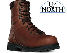 "Danner Workman GTX 8"" Brown AT Leather GORE-TEX Work Boots 16005 Vibram Sole"