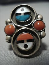 Magnificent Zme Vintage Zuni Native American Sterling Silver Ring