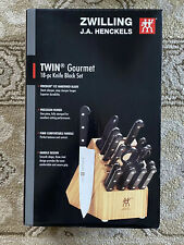 Zwilling Henckels 18 Piece Gourmet Knife Set With Wooden Blocknew In Box