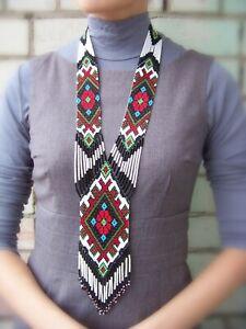 "Handmade Beaded Necklace Gerdan ""Ukrainian"""
