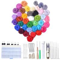 Needle Felting Starter Kit Wool Felt Tools Mat Needles Handle Accessories Craft