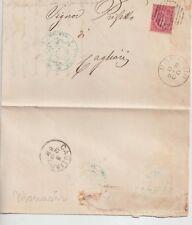 ITALIA 1880 LETTERA DA MONASTIR CA PER CAGLIARI