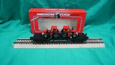 American Flyer Flat Car w/2 Die-Cast Farm Tractors 6-48509 Never Run
