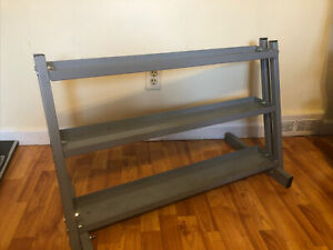 Durable Metal Steel Home Workout Gym Dumbbell Weight Rack Storage Stand 3