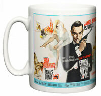 Dirty Fingers Mug, Sean Connery James Bond From Russia With Love, Film Poster