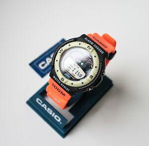 NOS Rare vintage Casio SUF-100 surfing timer retro Japan Made digital watch